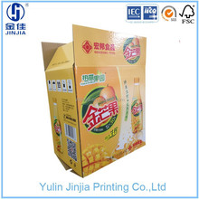 packeging paper carton boxes for 1.25L *6 bottle beverage