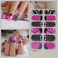 Y5213/High quality non-toxic nail art polish stickers for girls self adhesive