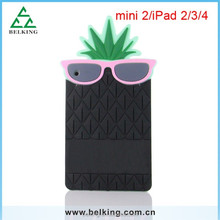 Factory price for ipad 4 3 pineapple silicone soft case