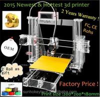 2015 Providing OEM reprap prusa i3 3d printer 2rolls 1.75mm filament +SD card for free