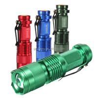 7W CREE Q5 LED 1200Lm Zoom Focus Flashlight Torch Light Lamp 14500/AAA
