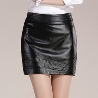 sexy black leather skirt, tight leather skirt, leather spanking skirt