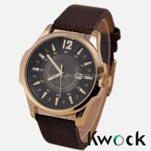 Fashion Curren Men Sport Military Water Quartz Watch with Leather Strap