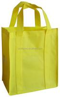 low price non woven promotional bags, cheap shopping bags, green spun shopping bag