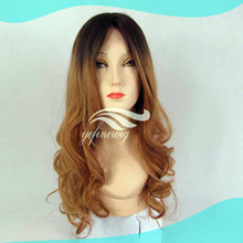 Full Handtied Twp Tone Natural Wavy Human Hair Silk Top Full Lace Wigs With Baby Hair