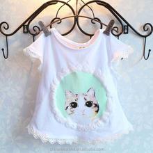 MS64206C summer lace purfle fashion t shirts cheap child garment