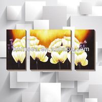 Flowers group stretched canvas printing wall art painting