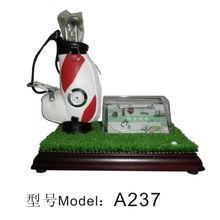 Promotional Golf Pen Holder with Clock&golf stick model A184