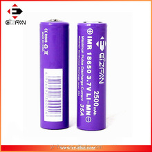 wholesale efan rechargeable 18650 35amp imr battery 2500mah vs vtc5 battery 30a 18650 2600mah