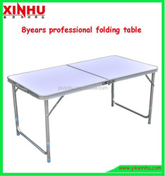 2 section portable camping folding table