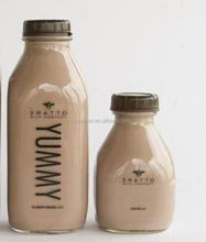 1000ml glass milk bottle with plastic cap