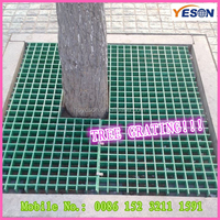 fiberglass solid grille/water resistance steel grating/tree protection frp grating