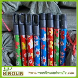 colorful Cap flower pvc coated broom stick low price
