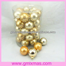 GML Factory charming christmas glass ball decor in 2015 year most popular products,Trade Assurance supplier