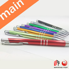 2015 Hot sale advertising print/laser logo metal ball point pen