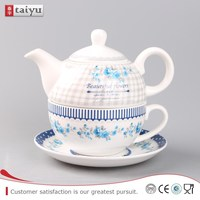 OEM factory supply porcelain pink tea pot