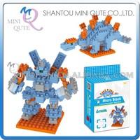 Mini Qute DIY change Robot Stegosaurus Dinosaur Diamond nano plastic building blocks bricks model educational toy NO.BY 8301A