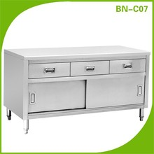 BN-C07 Restaurant Commercial Kitchen Stainless Steel Work Bench Cabinet