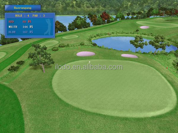 Microscene indoor golf equipment