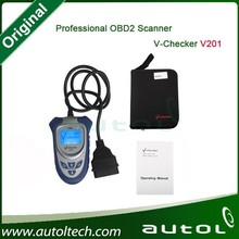V-Checker V201 OBD Scanner Supports All OBD Standard Tests and Adds Original Decoding Function for Most of Vehicles.