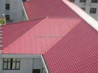 Terracotta red roof tile/light weight spanish tile roof/shingle roof tile