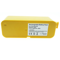 Melasta Extended 14.4v 2.5ah Capacity Replacement Vacuum Battery for iRobot Roomba 4000 series 4000,4100,4105,4110,4130,4150