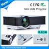 800lumens 1080p HD cheap mini lcd projector video projector for home use,business and education
