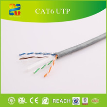 China high quality super speed 23awg 4 pairs network cable cat6 utp lan cable with competitive price