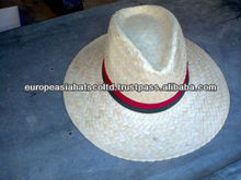 White cowboy straw hat