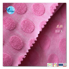 comfortable Cotton Polyester Jacquard Terry Fabrics Knitting Fabrics