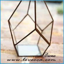 wholesale terrarium geometric glass terrarium brass