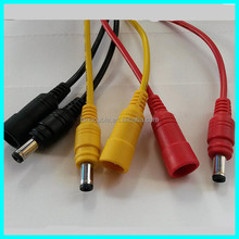 Colorful 5.5x2.mm 24awg male female dc cable extension