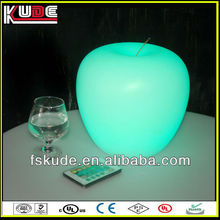 RGB rechargeable LED table apple lamp
