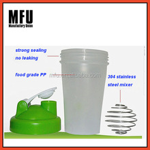 MFU Plastic protein shake bottle/ dringking water bottle