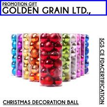XMAS Decoration 8cm plastic christmas ball
