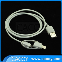 Hot sale 2 in 1 MFi USB charging cable for iPhone 6 & Android Mobilephone
