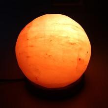 Großhandel runde form Himalaya-Salz lampe für hauptdekoration
