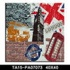 Made in China city Canvas Painting Wall Art Home Decoration