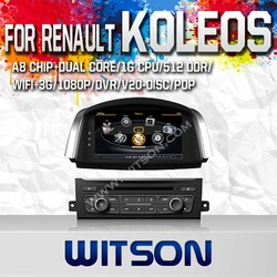 WITSON FOR RENAULT KOLEOS 2014 CAR RADIO DVD WITH 1.6GHZ FREQUENCY DVR SUPPORT WIFI APE MUSIC RAM 8GB