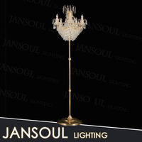 moroccan style modern gold cheap high quality lighting products floor stand lamp brass crystal chandelier for home deco