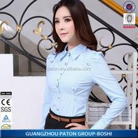 Factory wholesale ladies blouse design 2015 simple design lady blouse