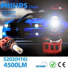 Qeedon low power consumption white waterproof auto bulb h1 car lamp 9004 h3 led driving light