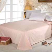 100% Natural Pure Cotton Solid Colour Fabric bed Sheet