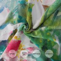 4 way stretch lycra fabrics customized printed