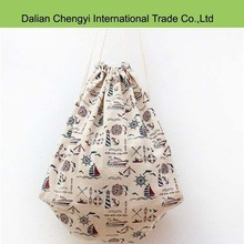 quality promotional shopping drawstring linen bag