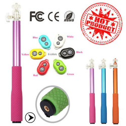 Hot sale holder handheld monopod extendable wired retractable monopod phone holder