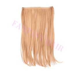 No clips, no glue flip in hair 2015 New product synthetic flip in hair extension