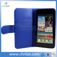 Hot Selling for Huawei G510 Wallet Case, Genuine Leather Wallet Case for Huawei G510