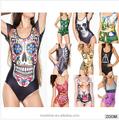 2014 nueva moda baño de una pieza del traje de baño ropa de playa chica del traje de baño, traje de baño de sports S125