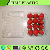 Clear clamshell plastic strawberry packaging container wholesale